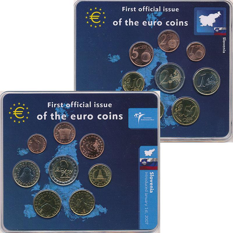 Набор монет Словения Набор 2007 года 2007 UNC
