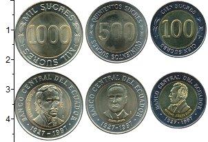 Изображение Наборы монет Эквадор Эквадор 1997 1997 Биметалл UNC- В наборе 3 монеты но