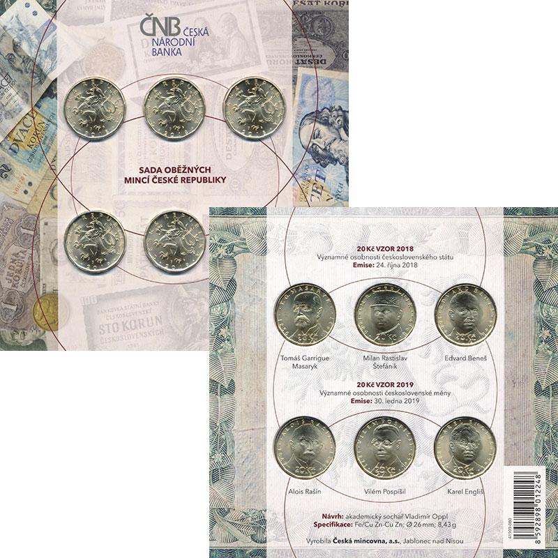 Изображение Подарочные монеты Чехия 20 крон 0 Латунь UNC `Два выпуска 20-крон