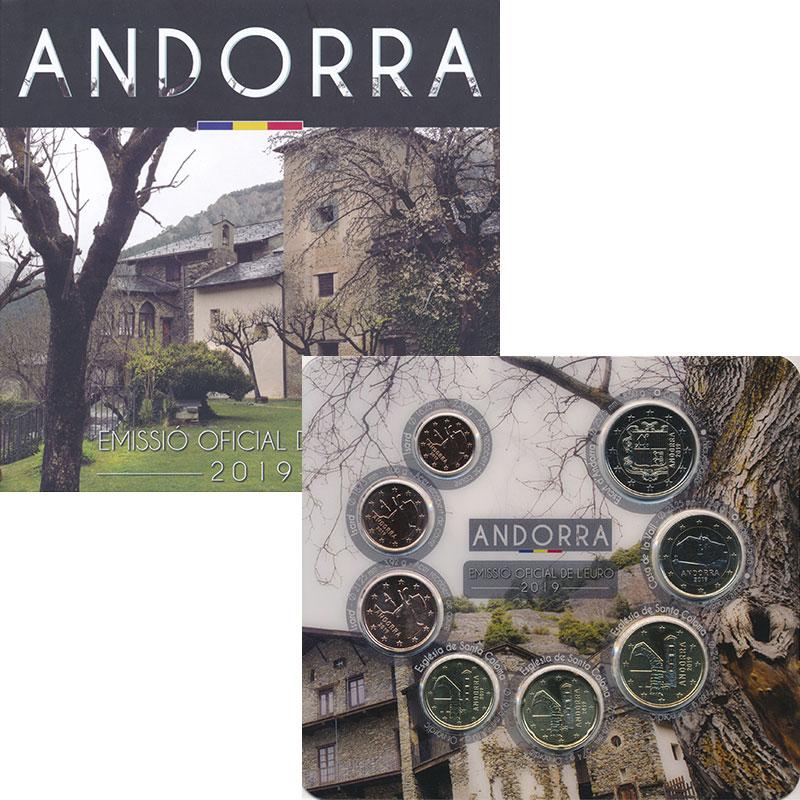 Изображение Подарочные монеты Андорра Набор 2019 года 2019  UNC В набор входят восем