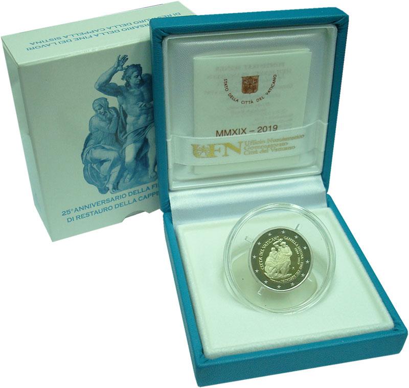 Изображение Подарочные монеты Ватикан 2 евро 2019 Биметалл Proof 25 лет с момента зав