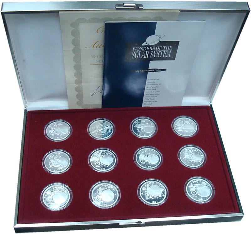 Изображение Подарочные монеты Маршалловы острова 50 долларов 1994 Серебро Proof- Солнечная система. Н