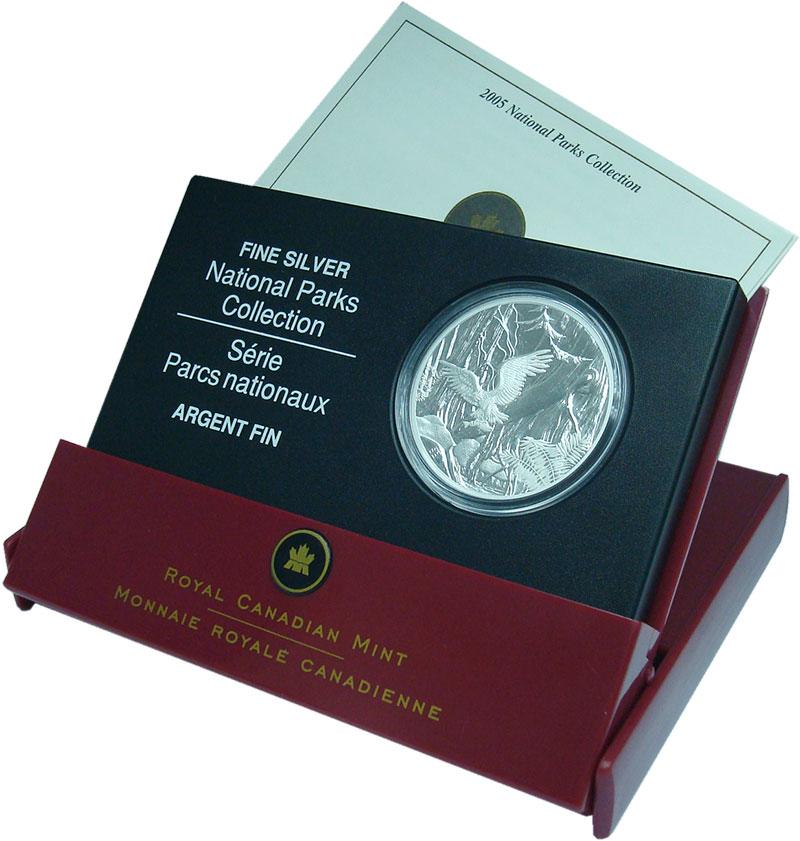 Изображение Подарочные монеты Канада 20 долларов 2005 Серебро Proof Тихоокеанский национ