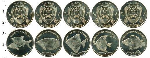 Изображение Наборы монет Индонезия Набор 2019 года 2019 Латунь UNC UNUSUAL. Малуку. Пят