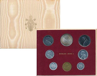 Изображение Подарочные монеты Ватикан Набор 1963 года 1963  UNC- !!! СПЕЦВЫПУСК !!!<