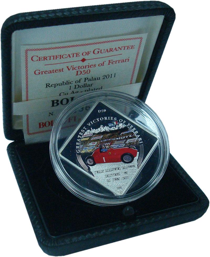 Изображение Подарочные монеты Палау 1 доллар 2011 Посеребрение Proof `Серия ``Великие поб