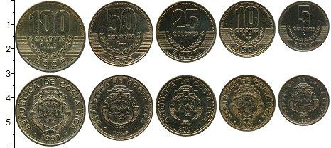 Изображение Наборы монет Коста-Рика Набор монет 0 Латунь UNC Набор из 5 монет от