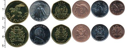 Изображение Наборы монет Малави Набор монет 0  UNC Набор из 6 монет  от