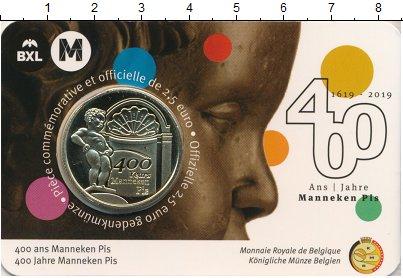 """Изображение Подарочные монеты Бельгия 2 1/2 евро 2019 Латунь UNC 400 лет скульптуре """""""
