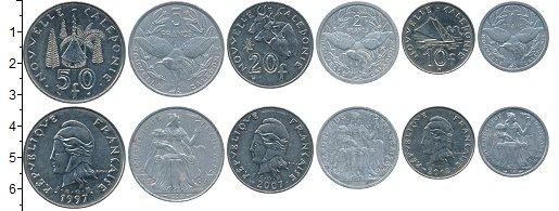 Изображение Наборы монет Новая Каледония набор монет 0  XF Набор из 6 монет ном