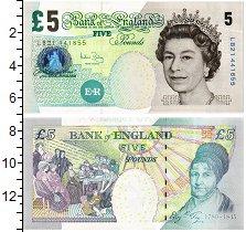 Банкнота Великобритания 5 фунтов 2002 Елизавета II UNC