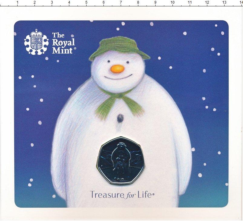Изображение Подарочные монеты Великобритания 50 пенсов 2019 Медно-никель BUNC Сокровища жизни - Сн