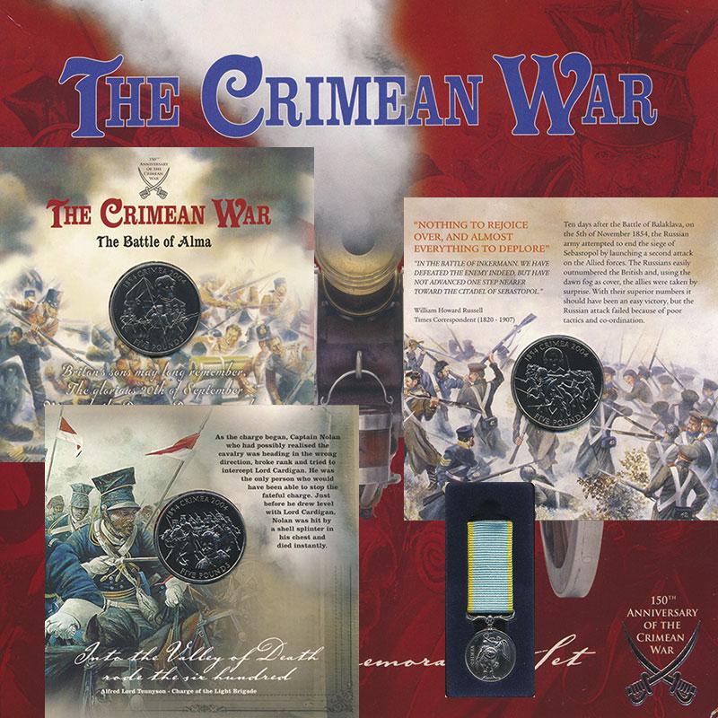 Изображение Подарочные монеты Гернси 150 лет Крымской войне 2004 Медно-никель UNC В набор входят три м