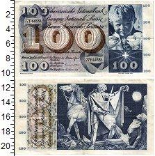 Банкнота Швейцария 100 франков XF-