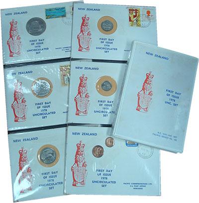 Изображение Подарочные монеты Новая Зеландия Годовой набор 1978 года 1978  UNC В наборе 7 монет ном