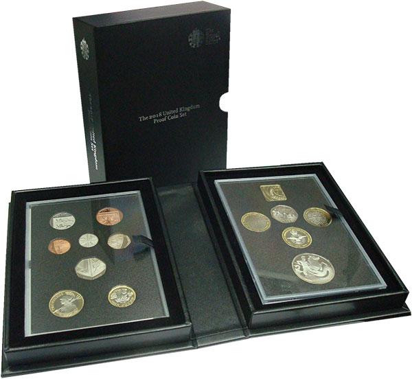 Изображение Подарочные монеты Великобритания Набор 2018 года 2018  Proof В набор входят восем