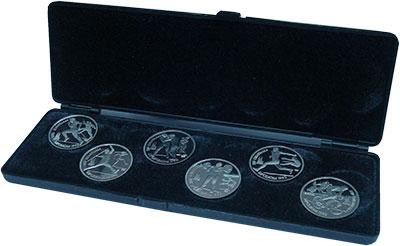 Изображение Подарочные монеты СССР Олимпийские игры в Барселоне 1992 года 1991  Proof Подарочный набор пос