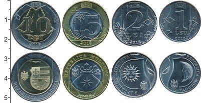 Изображение Наборы монет Молдавия Набор 2018 года 2018  UNC Набор из 4 монет от
