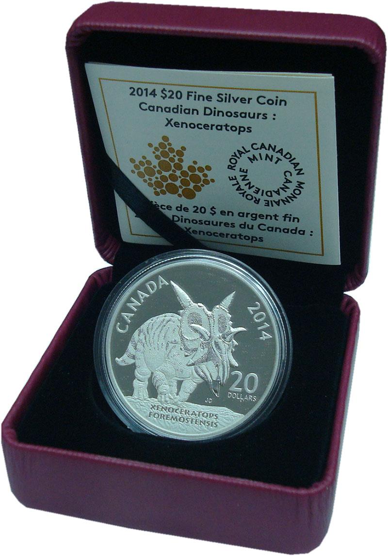 Изображение Подарочные монеты Канада 20 долларов 2014 Серебро Proof `Серия ``Динозавры К