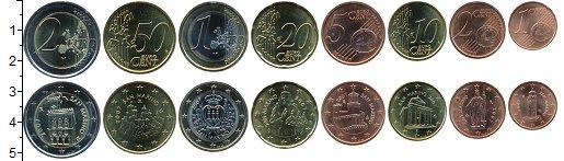 Изображение Наборы монет Сан-Марино Набор 2007 г. 2007 Биметалл UNC В наборе 8 монет ном