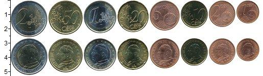 Изображение Наборы монет Ватикан Набор 2002 г. 2002 Биметалл UNC В наборе 8 монет ном