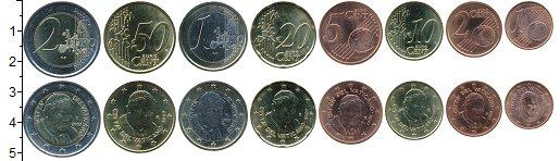Изображение Наборы монет Ватикан Набор 2007 г. 2007 Биметалл UNC- В наборе 8 монет ном