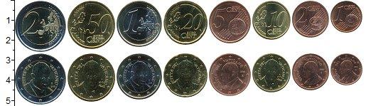 Изображение Наборы монет Ватикан Набор 2015 г. 2015 Биметалл UNC В наборе 8 монет ном