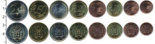 Изображение Наборы монет Ватикан Набор 2017 г. 2017 Биметалл UNC В наборе 8 монет ном