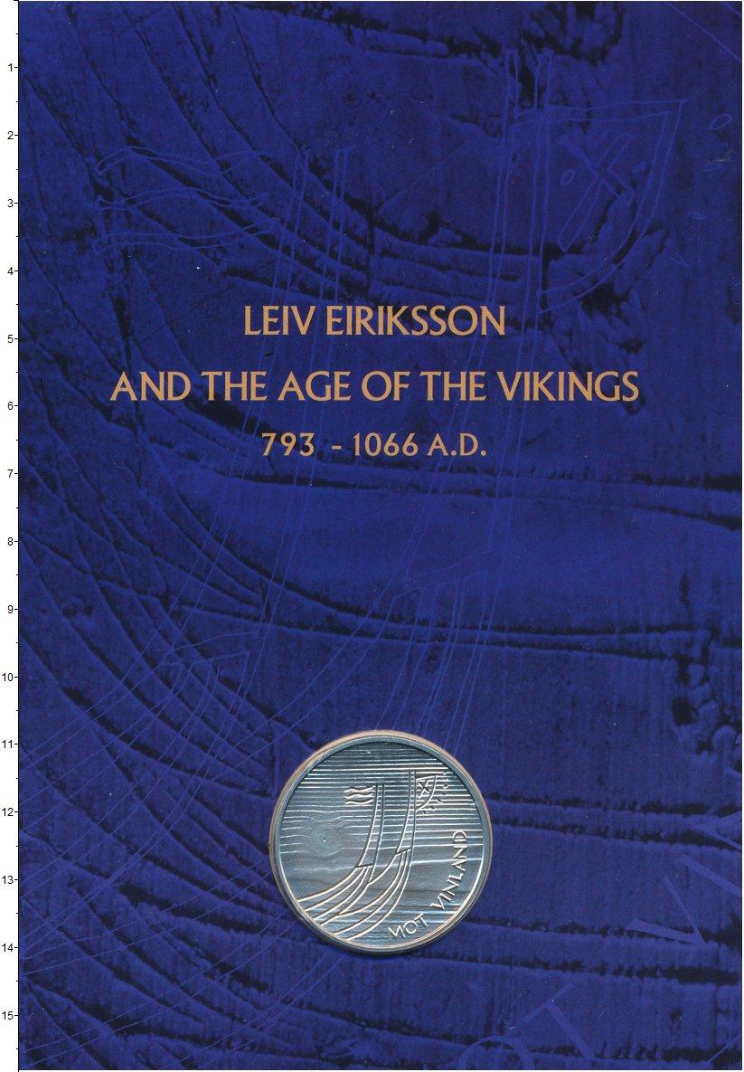 Изображение Подарочные монеты Норвегия Медаль 0 Серебро UNC Лиф Эрикссон. Ориги