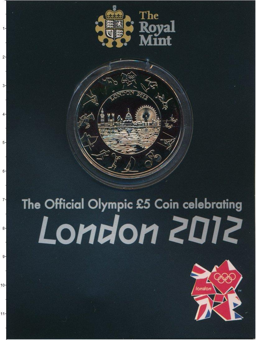 Изображение Подарочные монеты Великобритания 5 фунтов 2012 Медно-никель UNC Елизавета II. Олимпи