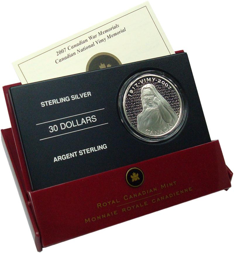 Изображение Подарочные монеты Канада 30 долларов 2007 Серебро Proof 100 лет битве на хре