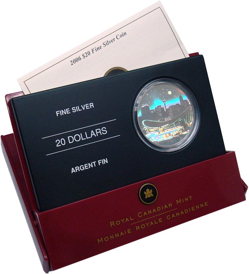 Изображение Подарочные монеты Канада 20 долларов 2006 Серебро Proof Альберта. Прогулочны