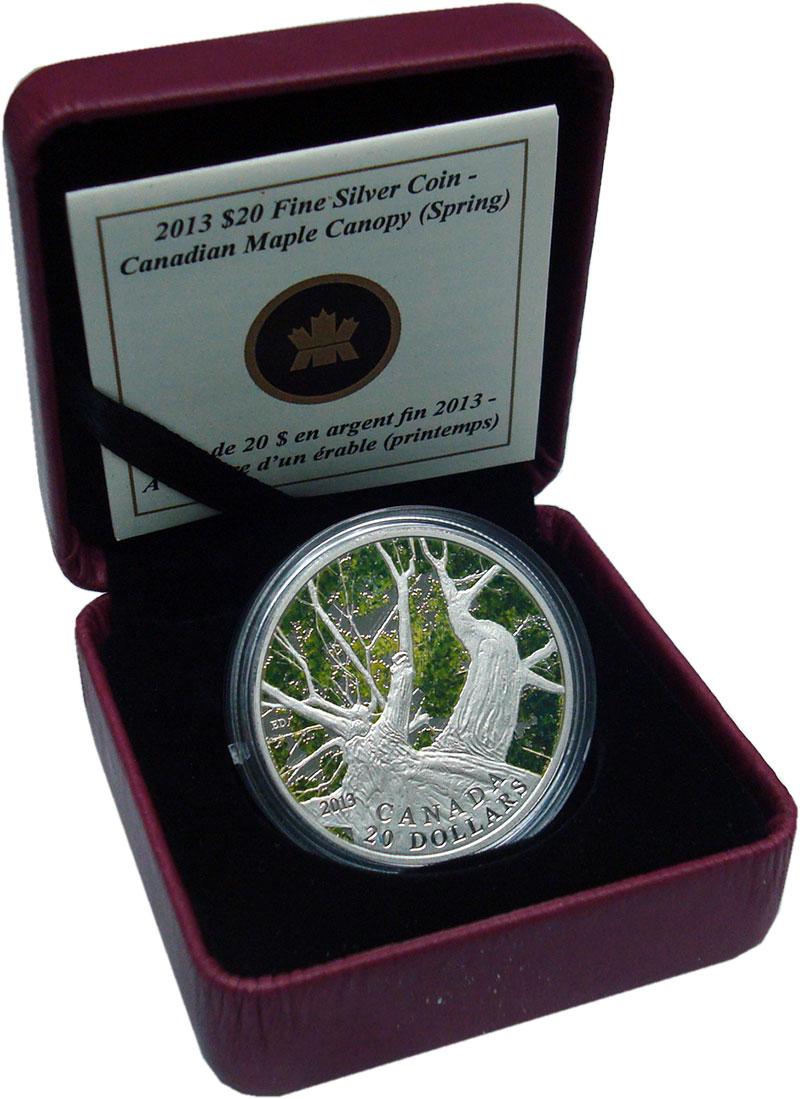 Изображение Подарочные монеты Канада 20 долларов 2013 Серебро Proof Под сенью канадского