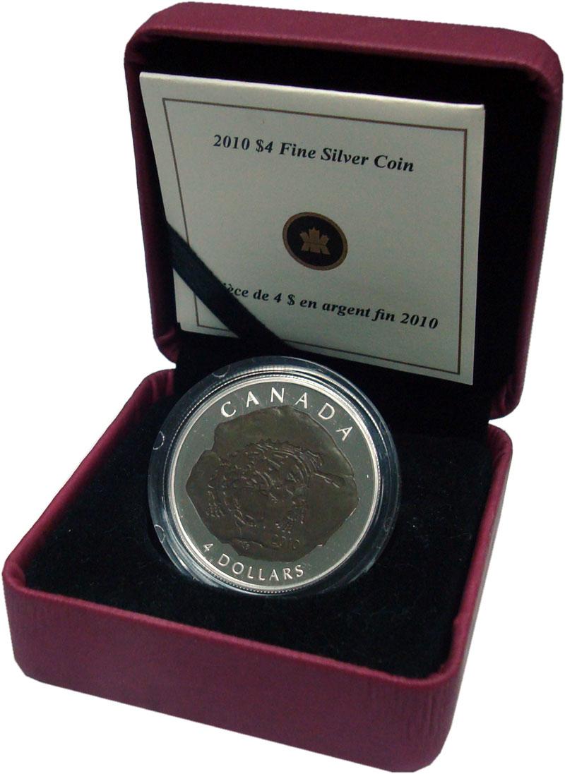Изображение Подарочные монеты Канада 4 доллара 2010 Серебро Proof `Серия ``Доисторичес