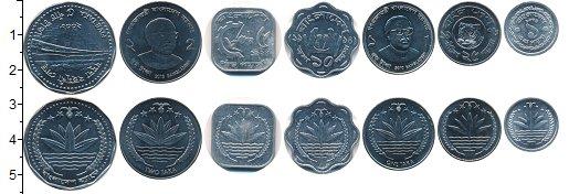 Изображение Наборы монет Бангладеш 5 така 2012 Медно-никель UNC- В наборе 7 монет ном