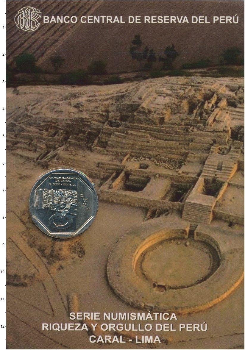 Изображение Подарочные монеты Перу 1 соль 2014 Медно-никель UNC Колыбель цивилизации