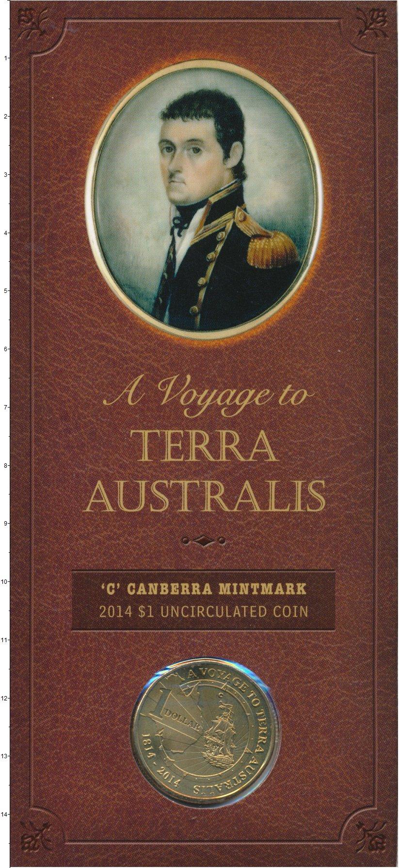 Изображение Подарочные монеты Австралия 1 доллар 2014 Латунь UNC A Voyage to Terra Au