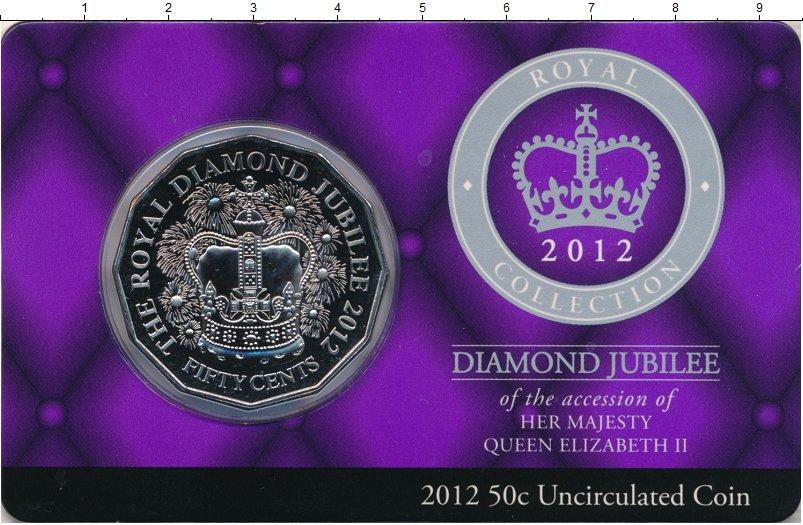Изображение Подарочные монеты Австралия 50 центов 2014 Медно-никель UNC Бриллиантовй юбилей.