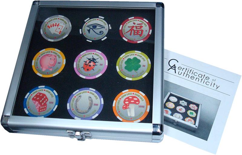 Изображение Подарочные монеты Палау 1 доллар 0 Пластик UNC Монеты удачи. Набор