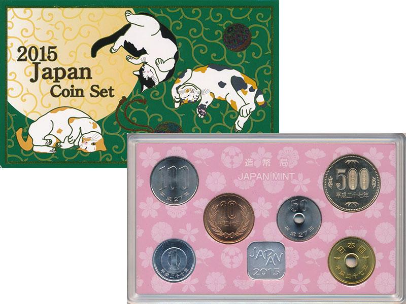 Изображение Подарочные монеты Япония Набор 2015 года 2015 Серебро UNC Набор из шести монет