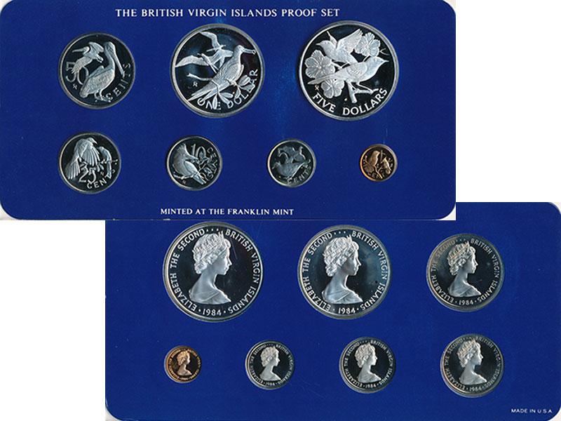 Изображение Подарочные монеты Виргинские острова Набор 1984 года 1984  Proof Набор из 7 монет: 1