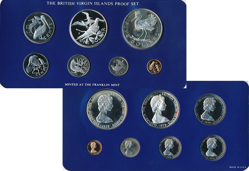 Изображение Подарочные монеты Виргинские острова Набор 1979 года 1979  Proof Набор из 7 монет: 1