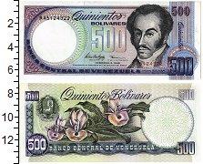 Банкнота Венесуэла 500 боливар 1998 Симон Боливар Орхидеи UNC