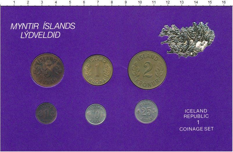 Изображение Подарочные монеты Исландия Набор монет 0  UNC- Набор из 6 монет от