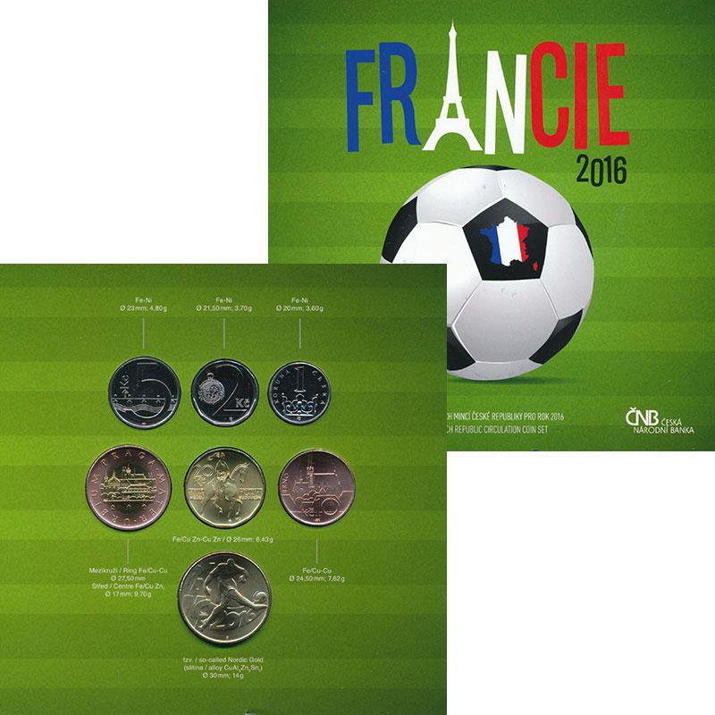 Изображение Подарочные монеты Чехия Набор 2016 года 2016  UNC В наборе 6 монет от