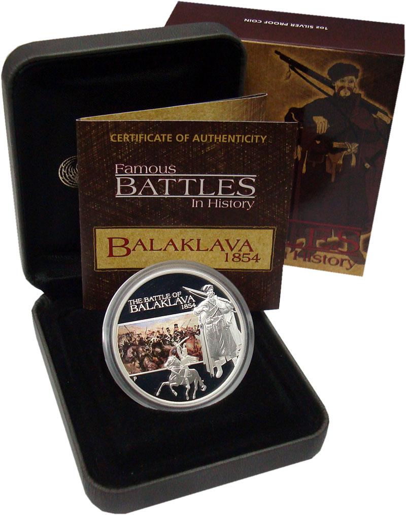 Изображение Подарочные монеты Тувалу 1 доллар 2009 Серебро Proof Битва при Балаклаве