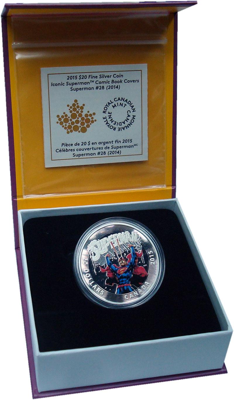 Изображение Подарочные монеты Канада 20 долларов 2015 Серебро Proof Супермен. Оригинальн