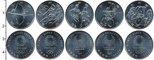 Изображение Наборы монет Япония Токио 2020 г. 2020 Медно-никель UNC Продолжение серии 10
