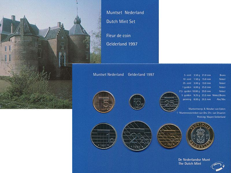 Изображение Подарочные монеты Нидерланды Набор 1997 года 1997  UNC В набор входят шесть
