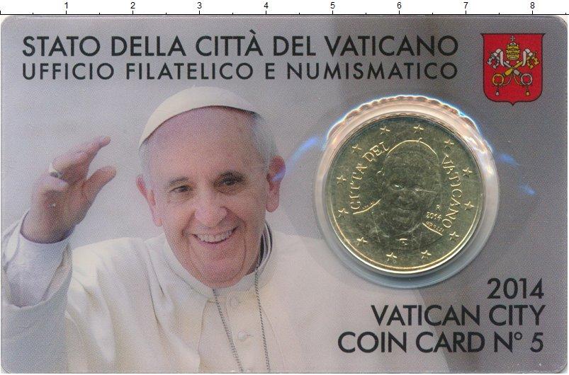 Изображение Подарочные монеты Ватикан 50 евроцентов 2014 Латунь UNC Папа Римский Францис